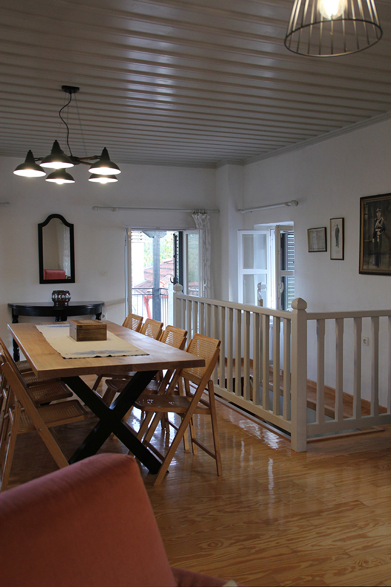 Refurbishment of a Rural House in Veligosti, Arcadia - View of dining area